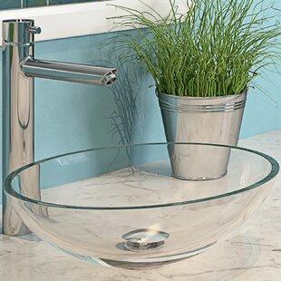 DECOLAV Ela Translucence Glass Oval Vessel Bathroom Sink
