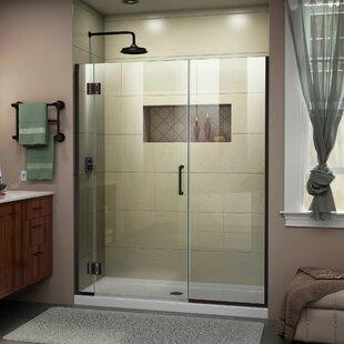 DreamLine Unidoor-X 44 1/2-45 in. W x 72 in. H Frameless Hinged Shower Door
