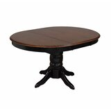 Strother Butterfly Leaf Rubberwood Solid Wood Dining Table by Canora Grey