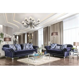 Everly Quinn Lazo 2 Piece Living Room Set