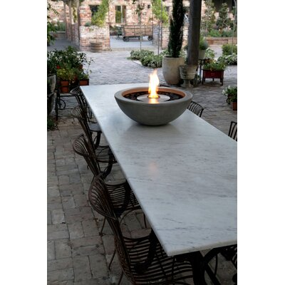 "EcoSmart Fire Mix Stainless Steel Bio-Ethanol Fuel Fire Pit Size: 9.3"" H x 23.8"" W x 23.8"" D, Finish: Graphite"