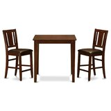 Stickney 3 Piece Counter Height Pub Table Set by Charlton Home®
