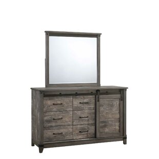 Laramie 6 Drawer Combo Dresser with Mirror