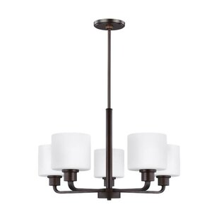 Top Reviews Yareli 5-Light Shaded Chandelier By Winston Porter