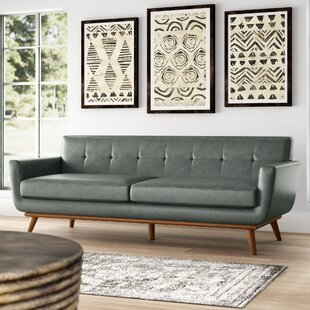 Shop Haskin Leather Sofa by George Oliver