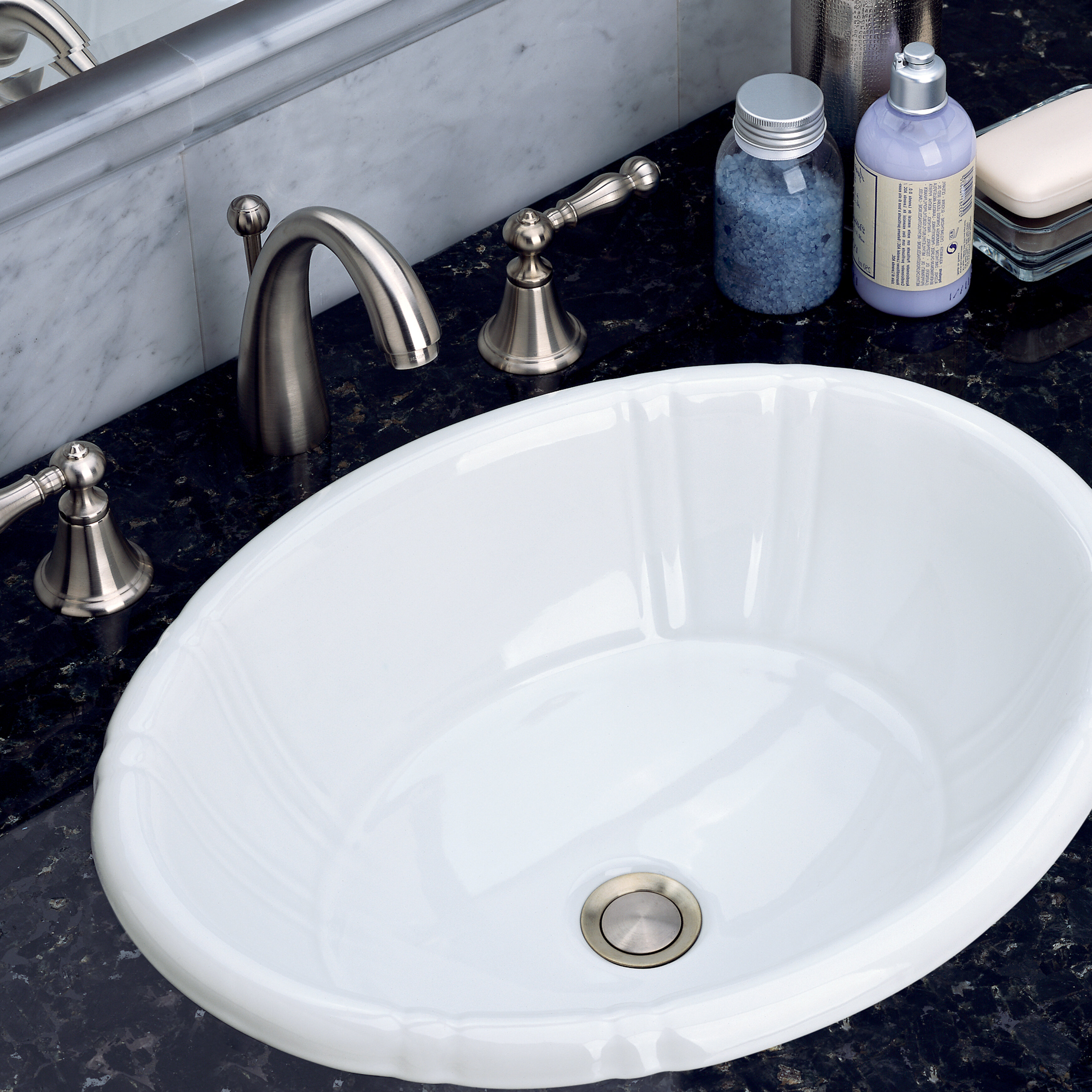 St Thomas Creations By Icera Antigua Ii Vitreous China Oval Drop In Bathroom Sink With Overflow Wayfair