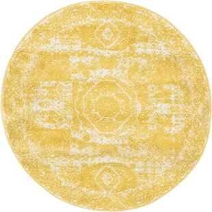Pat Yellow Area Rug by Charlton Home