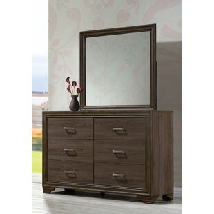Layla 6 Drawer Double Dresser with Mirror by Foundry Select