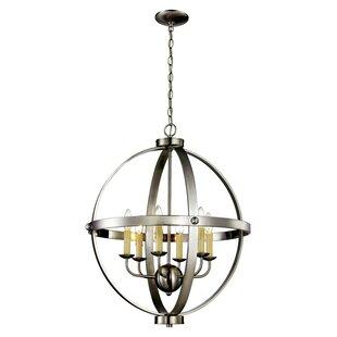 Gracie Oaks Dezi 6-Light Globe Chandelier