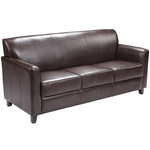 Letcher Leather Sofa by Red Barrel Studio