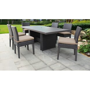 Medley 7 Piece Dining Set with Cushions by Rosecliff Heights