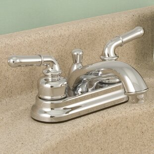 Read Reviews AquaLife Standard Centerset Bathroom Faucet with Drain Assembly ByWaxman
