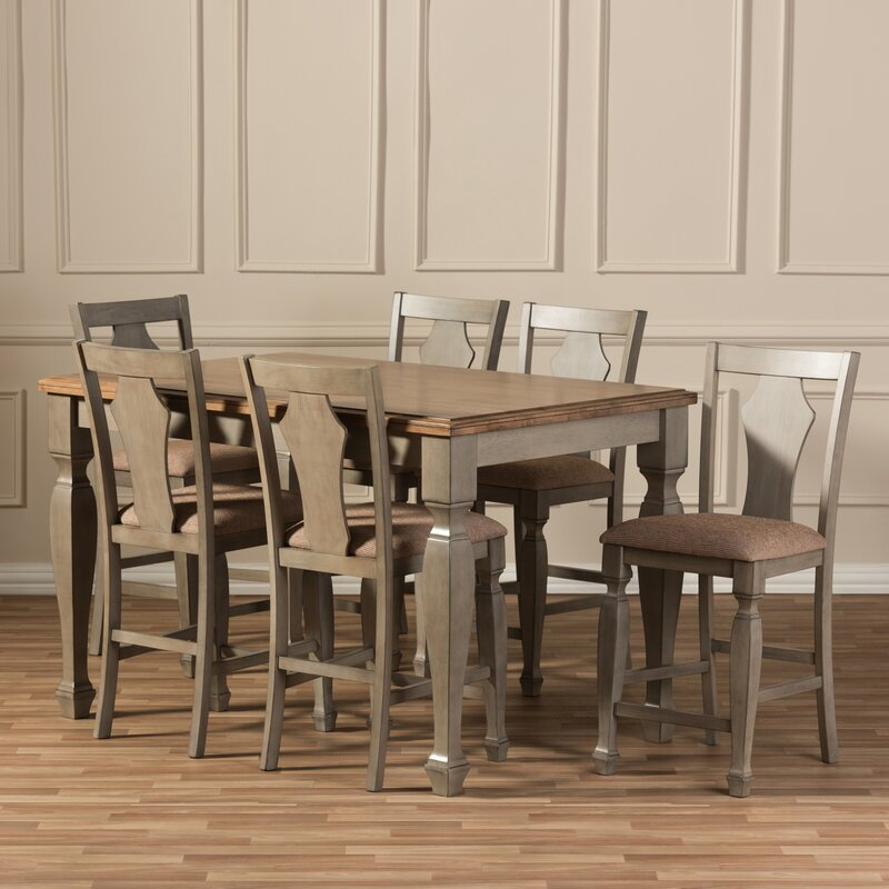 Baxton Studio Martina 7 Piece Counter Height Dining Set