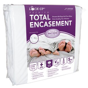 Lock-Up Premium Total Encasement Bed Bug Hypoallergenic Waterproof Mattress Protector by JT Eaton Cool