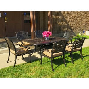 Campion 7 Piece Sunbrella Dining Set with Cushions