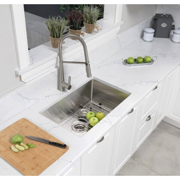 Stylish 30 L X 18 W Undermount Kitchen Sink With Grid And Basket Strainer Wayfair