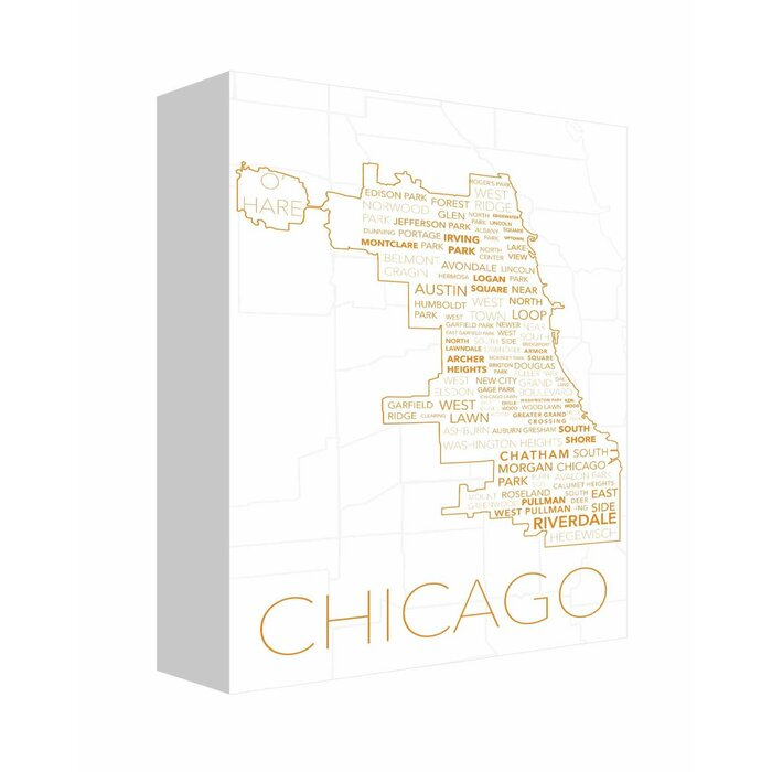Pleasing Chicago In Words 5 Textual Art On Canvas Machost Co Dining Chair Design Ideas Machostcouk
