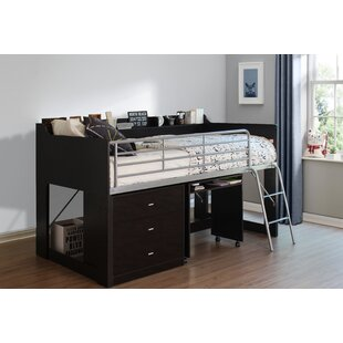 Alcester Twin Low Loft Bed With Desk and Storage by