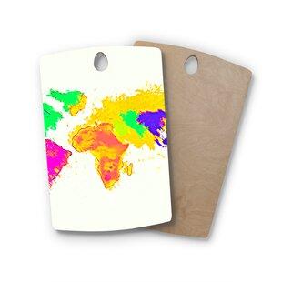 World map cork board wayfair oriana cordero birchwood my world map cutting board gumiabroncs Gallery