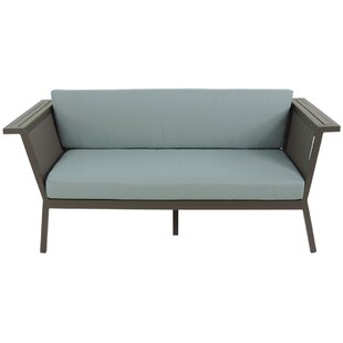 Brayden Studio Marina Geo Loveseat with Cushions