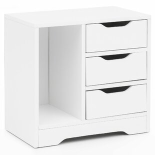 Terese 3 Drawer Bedside Table By 17 Stories
