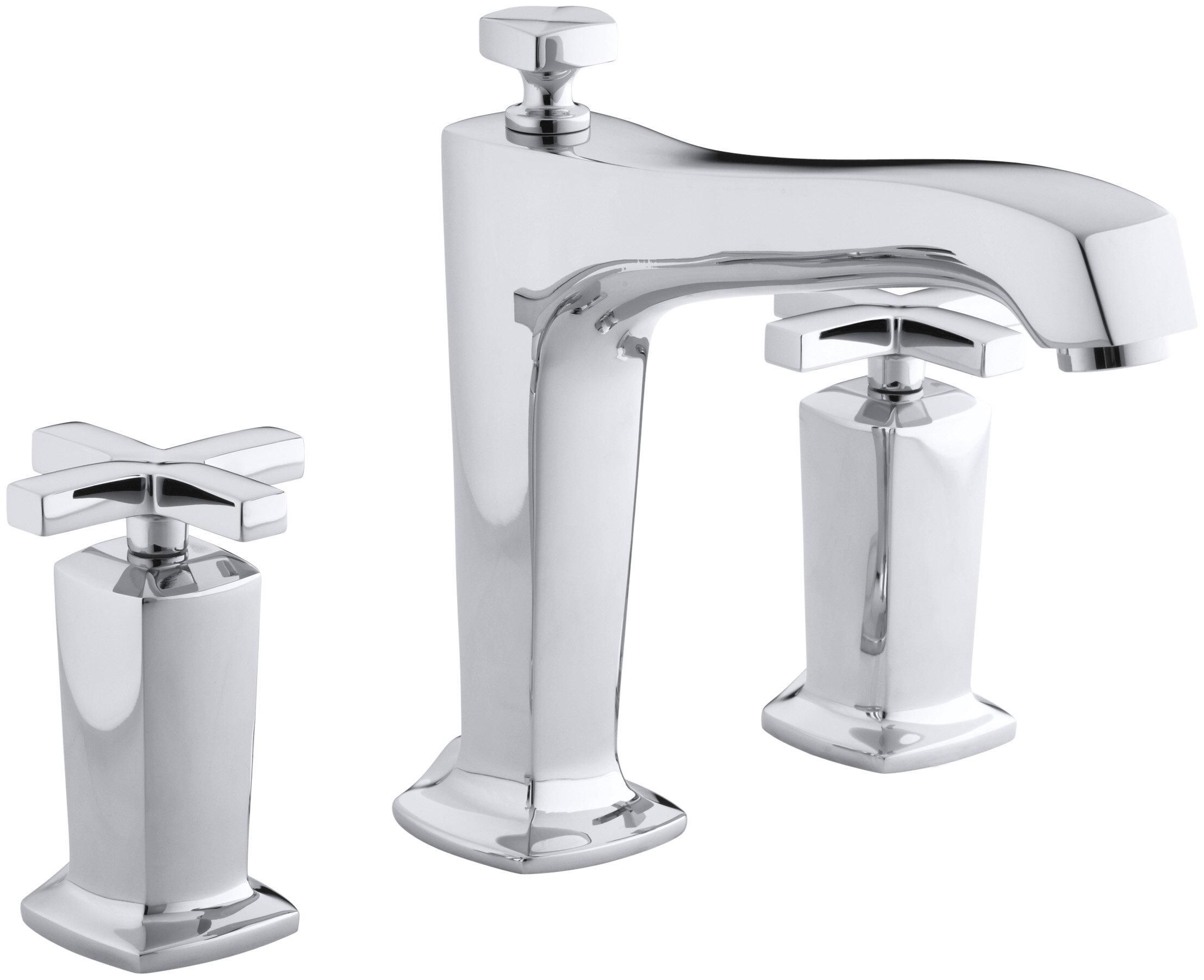 Kohler Margaux Double Handle Deck Mounted Roman Tub Faucet Trim Wayfair