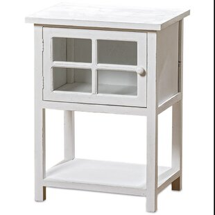 Best Deals Isakson Comfy Cottage Glass-Faced Nightstand by August Grove