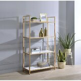 Sade 60 H x 37 W Metal Standard Bookcase by Everly Quinn