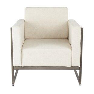 Ambrose Serta Upholstery Industrial Armchair