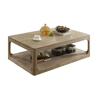 Ricks Lower Shelf Wood Coffee Table