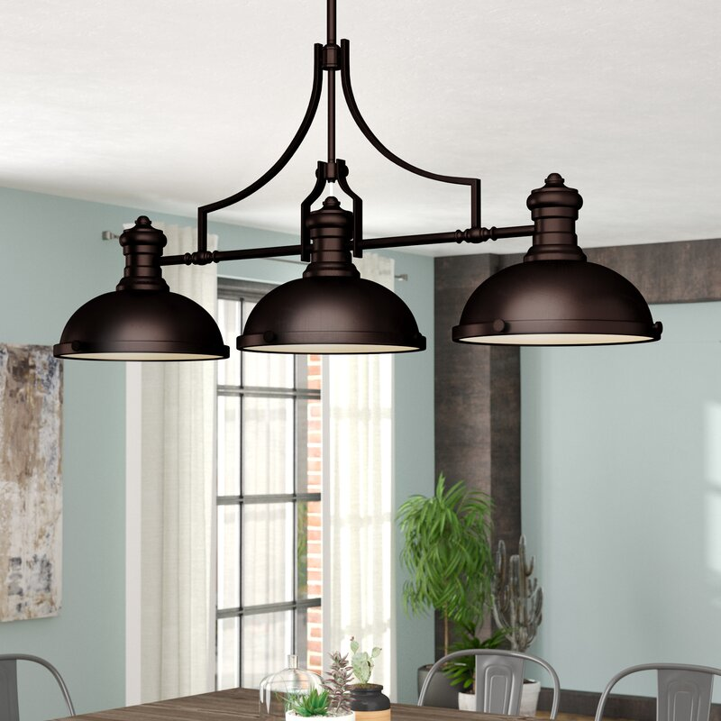 Trent Austin Design 174 Fredela 3 Light Kitchen Island