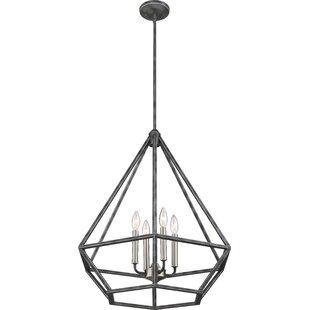 Basil 4-Light Geometric Chandelier by Brayden Studio