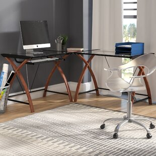 Jerrold Pull-Out Keyboard Computer Desk by Ebern Designs