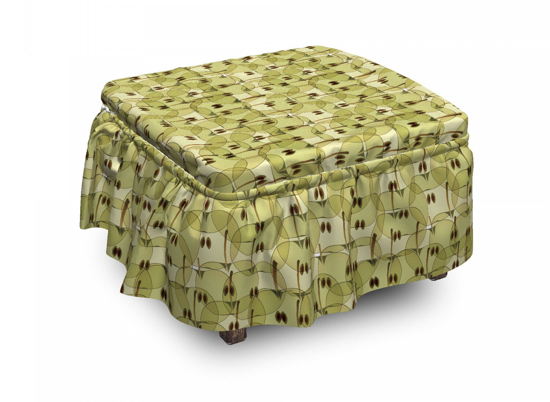 East Urban Home Apple Abstract Autumn Garden 2 Piece Box Cushion Ottoman Slipcover Set Wayfair