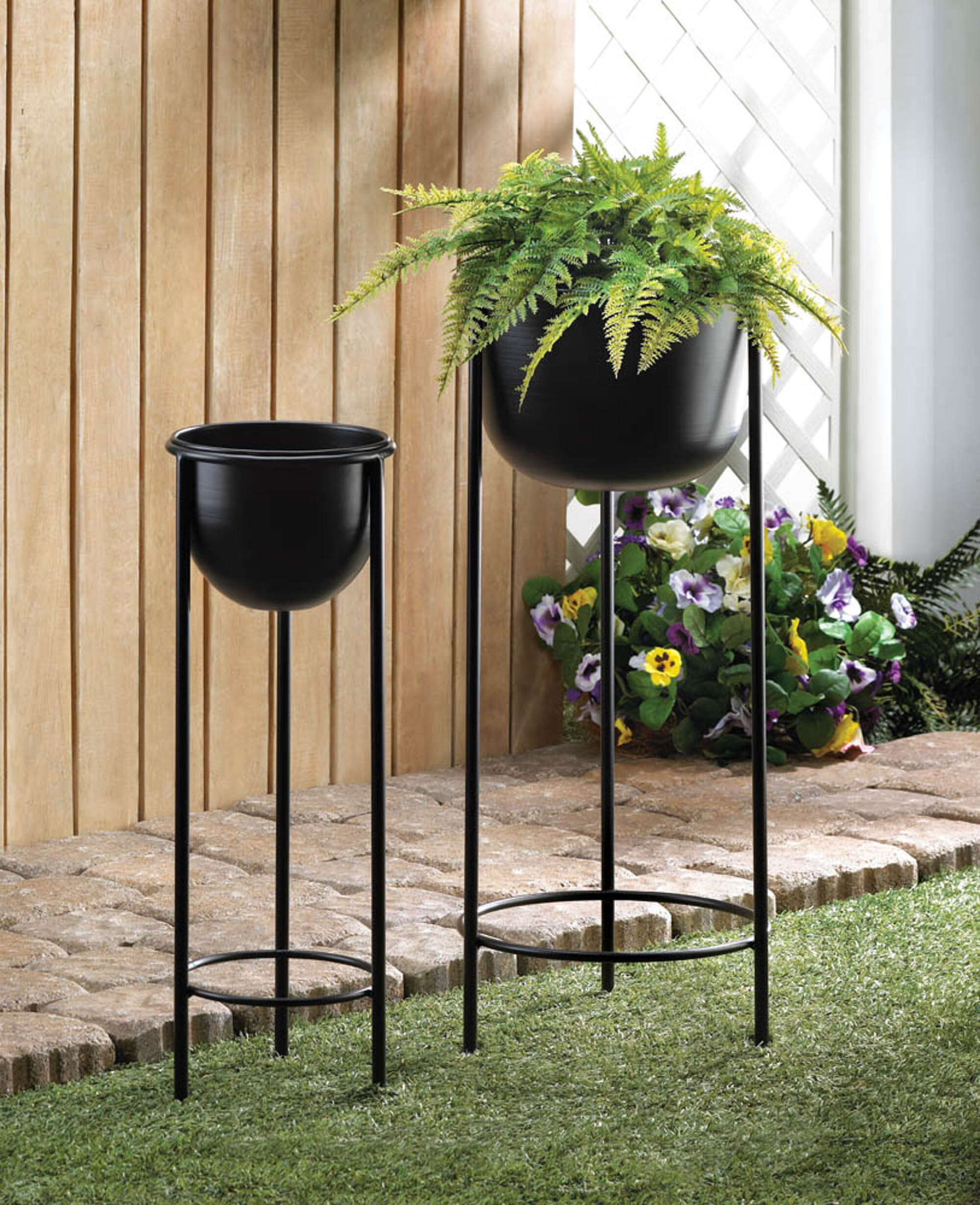 Metal Ebern Designs Plant Stands Tables You Ll Love In 2021 Wayfair