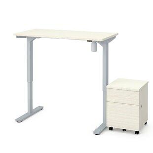 Symple Stuff Clare 2-Piece Electric Height Adjustable Desk Office Suite