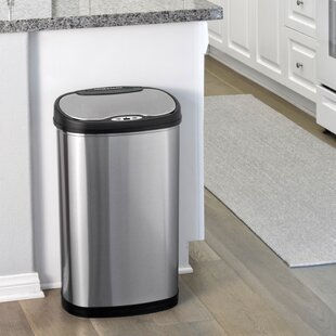 Nine Stars Stainless Steel 3.2 Gallon Motion Sensor Trash Can