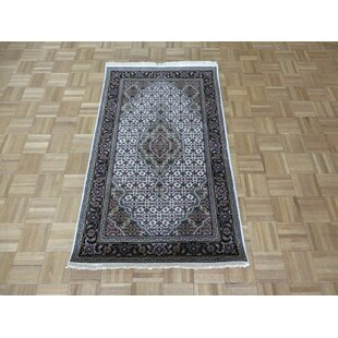 Price comparison One-of-a-Kind Beane Mahi Hand-Knotted Wool Ivory/Black Area Rug By Isabelline