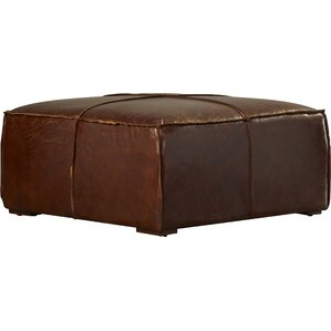Bonita Leather Ottoman by 17 Stories