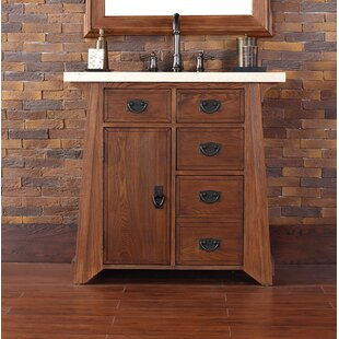 Affordable Coraima Traditional 36 Single Antique Oak Bathroom Vanity Set By Loon Peak