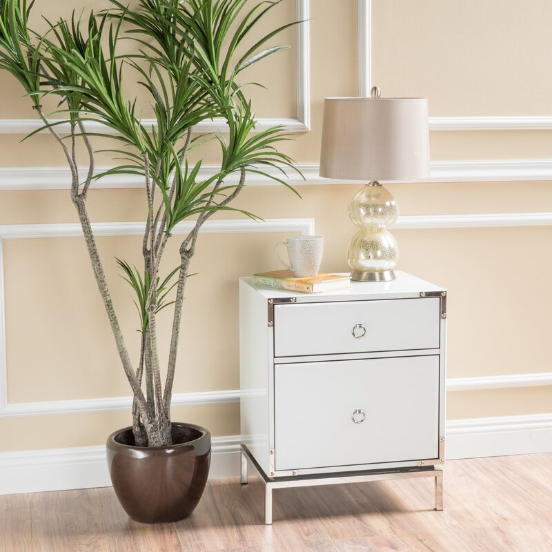 Collier 2 Drawer Side Table