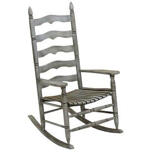 August Grove Segalerva Slat Rocking Chair