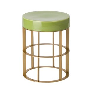 Spitler Metal Accent Stool by Ivy Bronx