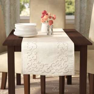 Jean Embroidered Motif Table Runner