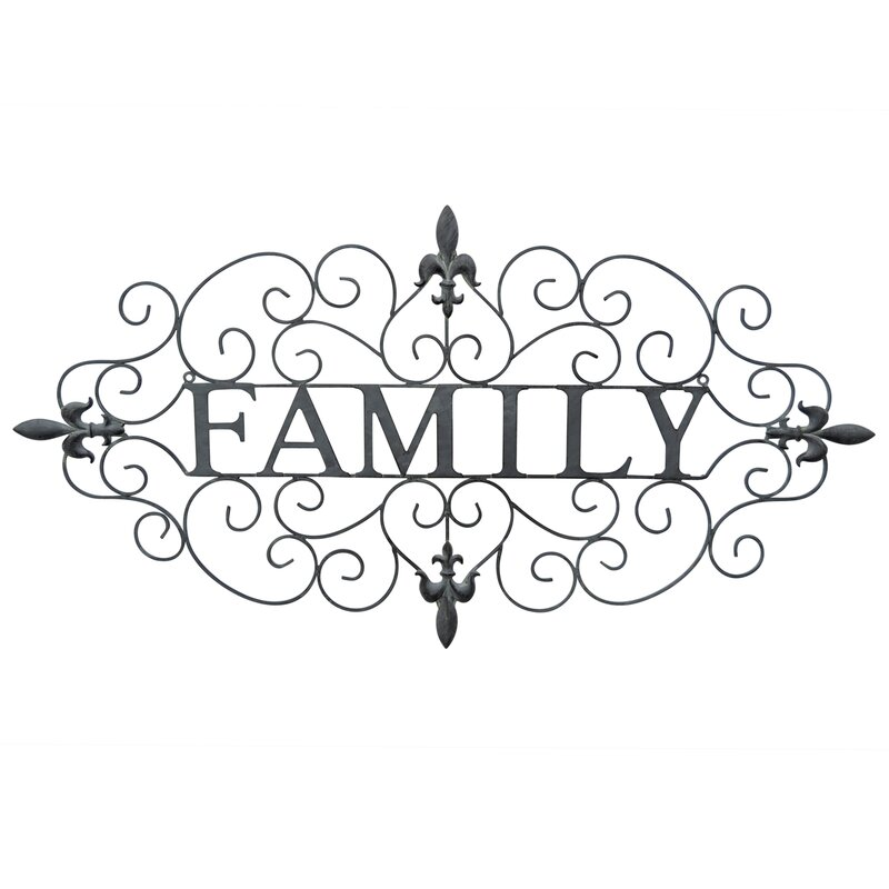 Fleur De Lis Living Family Metal Wall Décor | Wayfair