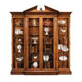 Windsor Triple Breakfront Lighted Curio Cabinet by Jonathan Charles Fine Furniture