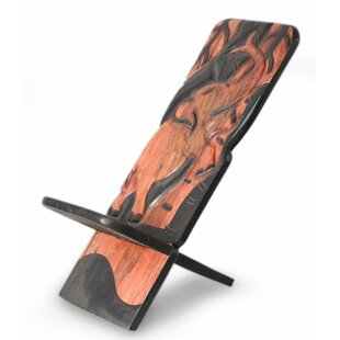 Elephant Acrobatics Wood Lazy Chair by Novica