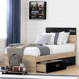 South Shore Induzy Twin Storage Platform Bed