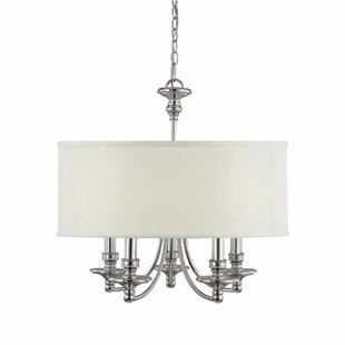 Birch Lane™ Polished Nickel 5-Light Cha..