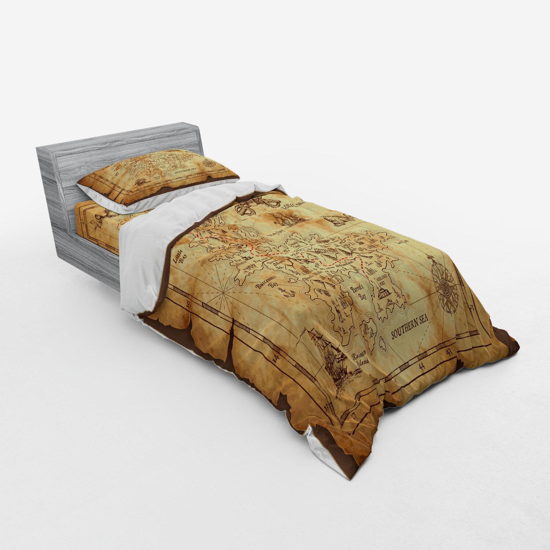 Bedding Sea Pirates Duvet Cover Set Single Home Furniture Diy New Times Bg